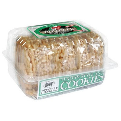 Lettieri Reko Pizzelle Anise Cookies, 5.25-Ounce Packages (Pack of 12)