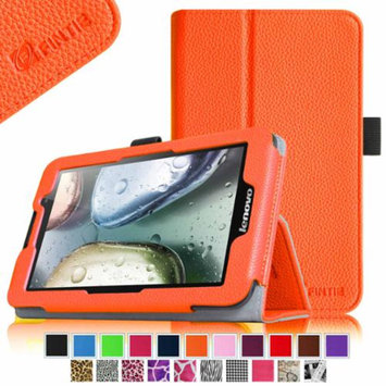 Fintie Lenovo IdeaTab A3000 7-Inch Android Tablet Folio Case - Premium Leather Cover Stand With Stylus Holder, Orange
