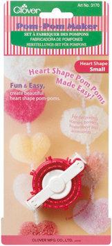 Clover Pom Pom Maker Small Heart 1-1/2