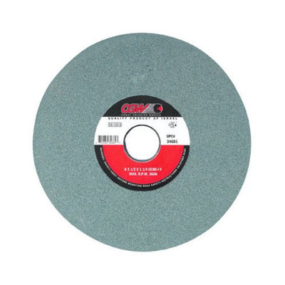 CGW Abrasives Green Silicon Carbide Surface Grinding Wheels - 7x1/4x1-1/4 t1 gc60-i-vgreen silicon carbide su