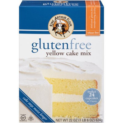 King Arthur Flour Gluten Free Yellow Cake, 22 OZ (Pack of 6)