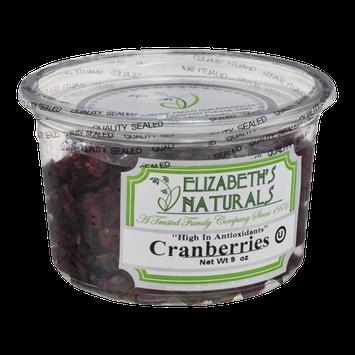 Elizabeth's Naturals Cranberries