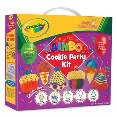 Brand Castle Crafty Cooking Crayola Rainbow Cookie Party Deluxe Kit, 24.4 Ounce Box