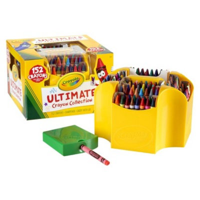Crayola Ultimate 152-piece Crayon Collection with Sharpener and Caddy