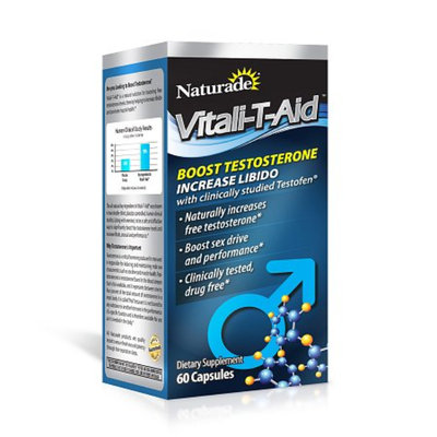 Naturade Vitali-T-Aid Testosterone Booster Dietary Supplement Capsule