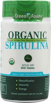 Green Foods Spirulina - Organic - 200 Mg - 300 Tablets