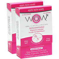 WOW Bubblemint Oral Cleansing Powder, 10 count, Pack of 2