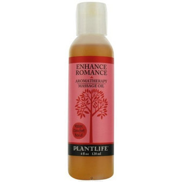 Plantlife Enhance Romance Aromatherapy Massage Oil- 4 oz.