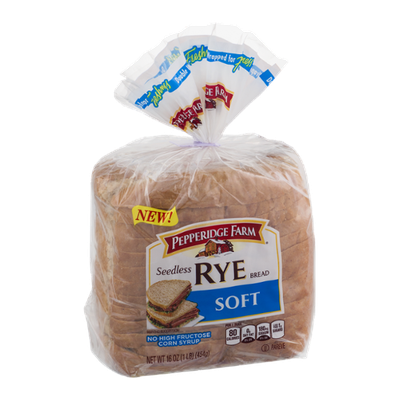Pepperidge Farm Seedless Rye Bread Soft