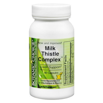 Botanic Choice Milk Thistle Complex 420 mg Dietary Supplement Capsules