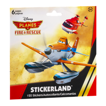 Stickerland Stickers Disney Planes Fire & Rescue - 120 CT
