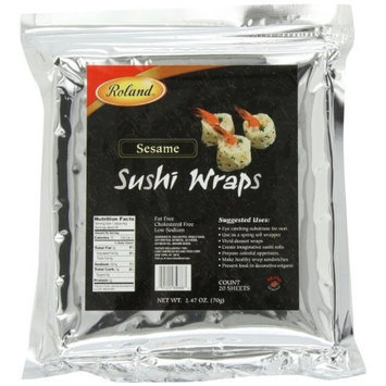 Roland Sesame Sushi Wraps, 20 Sheets