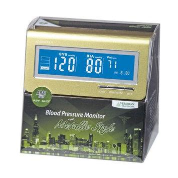 Veridian Healthcare Metallic Style Arm Blood Pressure Monitor, Green, 1 ea
