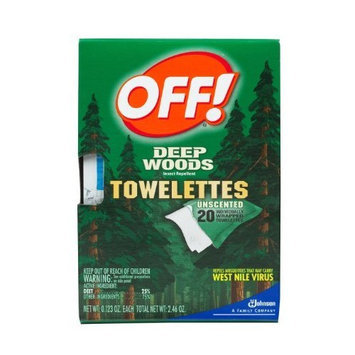 Off! Deep Woods Towelettes 20-Count (Pack of 12)