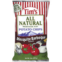 Tim's All Natural Reduced Fat Mesquite Barbeque Flavored Potato Chips, 8 oz