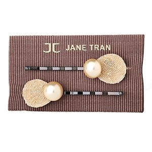 Jane Tran Hair Accessories Shimmering Petal Pearl Bobby Pin