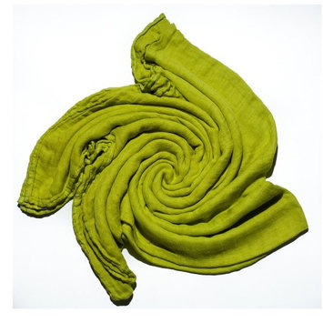 Austin Tie Dye Co Bamboo Swaddle Blanket for Babies - Bright Green