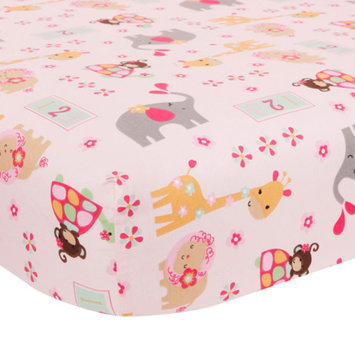 Bedtime Originals Jungle Sweeties Fitted Crib Sheet