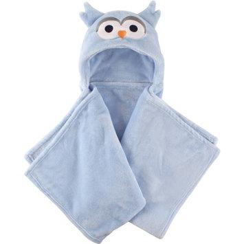 Baby Vision Hudson Baby Blue Owl Plush Hooded Blanket