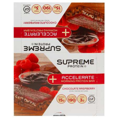 Supreme Protein Accelerate Protein Bar Chocolate Raspberry