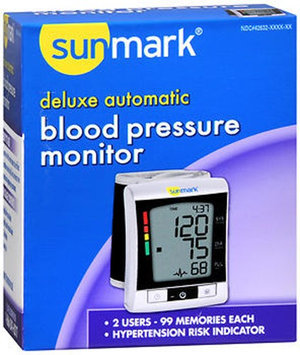 Sunmark Deluxe Automatic Blood Pressure Monitor, 1 Each by Sunmark