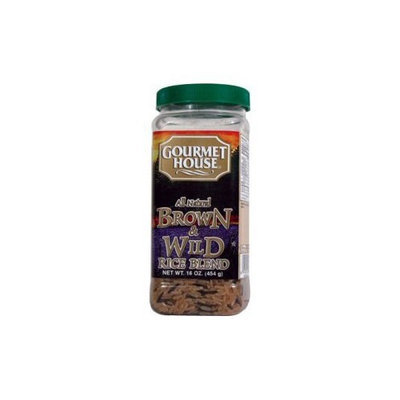 Gourmet House - Brown and Wild Rice Blend - 16oz Plastic Jar
