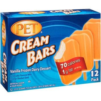 PET Cream Bars Vanilla Frozen Dairy Dessert, 2.5 fl oz, 12 count