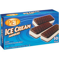 PET Vanilla Ice Cream Sandwiches, 3.5 fl oz, 10 count