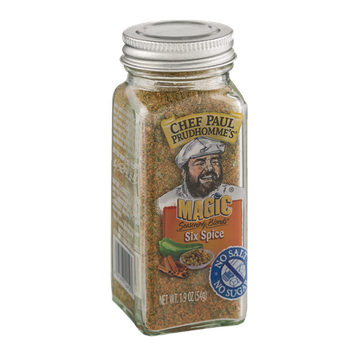 Chef Paul Prudhomme's Magic Seasoning Blends Six Spice