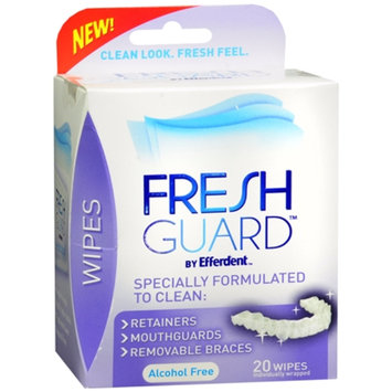 Fresh Guard by Efferdent Wipes, Mint, 20 ea
