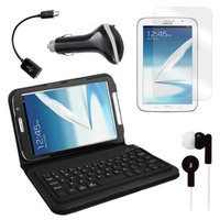 Bluetooth Keyboard Folio with Earphones, Screen Protector, OTG Cable, and More for Samsung Galaxy Note 8