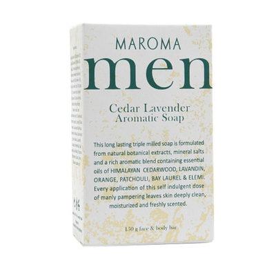 Maroma Men Aromatic Soap, Cedar Lavender, 5.39 oz