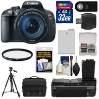 Canon EOS Rebel T5i Digital SLR Camera & EF-S 18-135mm IS STM Lens with 32GB Card + Battery + Case + BG-E8 Grip + Filter + Remote + Tripod + Kit
