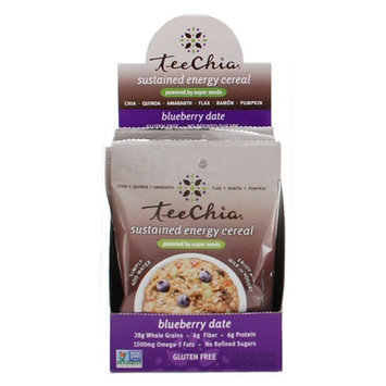 Teechia Cereal - Sustained Energy - Blueberry Date - 1.76 Oz - 1 Case