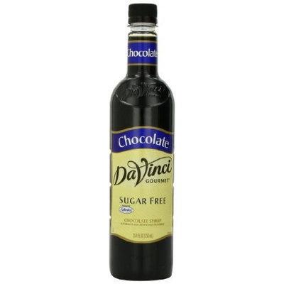 DaVinci Sugar Free Chocolate Syrup 750ml Plastic Single Bottle (Pack of 3)