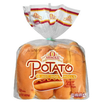 Arnolds Arnold Potato Hot Dog Rolls 15 oz 8 ct