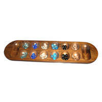 Mancala African Stone Game Ages 6+, 1 ea