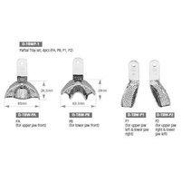 Osung TBWPZ4 Dental Impression Tray Set, Partial, Ni-Brass