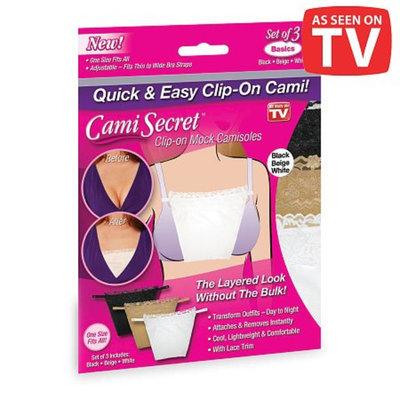 Cami Secret Clip-on Mock Camisoles, 3 ea