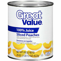 Great Value : Sliced Peaches