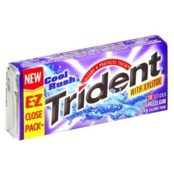 Trident Gum, Sugarless, Cool Rush, 18 sticks