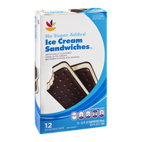 Ahold Ice Cream Sandwiches No Sugar Added - 12 CT
