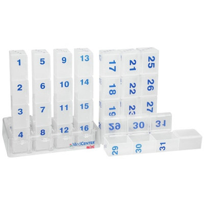 MedCenter Mini Monthly Pill Organizer
