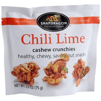 SNAPDRAGON Chili Lime Cashew Crunchies, 2.6-Ounce Bags (Pack of 12)