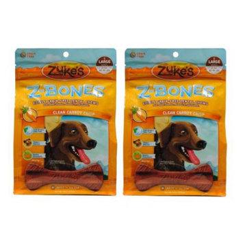 Zukes Zuke's Z-Bones Clean Carrot Crisp Dental Dog Treats, Large (2 Pack)