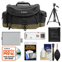 Canon 10EG Digital SLR Gadget Bag + Tripod + LP-E5 Battery + Accessory Kit for EOS Rebel XS, XSi & T1i