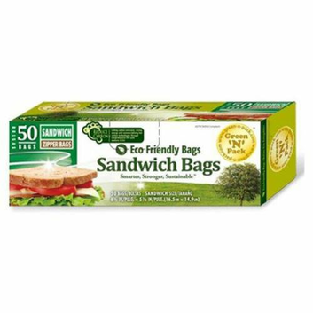 Eco-Friendly Bags Zipper Sandwich Bags 50 Pack