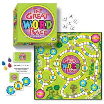 The Great Word Race Family Game Ages 6+, 1 ea