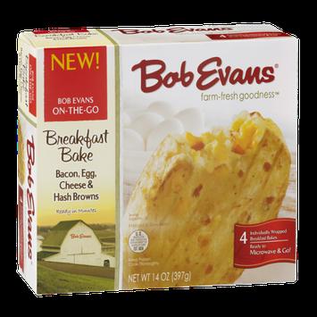 Bob Evans Breakfast Bake Bacon, Egg, Cheese & Hash Browns - 4 CT