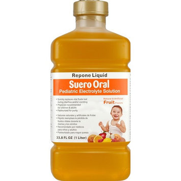 Suero Repone Liquid Pediatric Electrolyte Solution Natural 33.8 Fluid Ounce